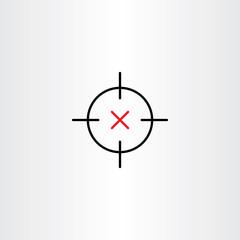 sniper target icon vector design symbol