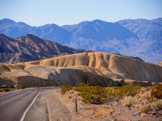 The amazing landscape of Death Valley National Park in California