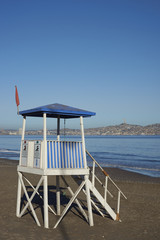 Life guard hut on the beach at Coquimbo in northern Chile.