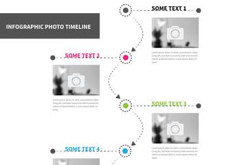 Vertical Photo Timeline Infographic