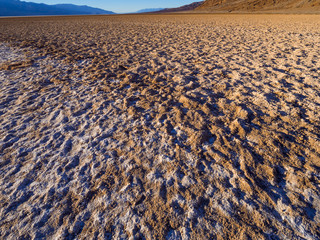 Beautiful scenery at Death Valley National Park California - Badwater salt lake