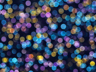 abstract colorful bokeh bubble Christmas background