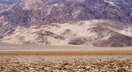 The amazing colorful rocks and mountains at Death Valley National Park - Artists Palette