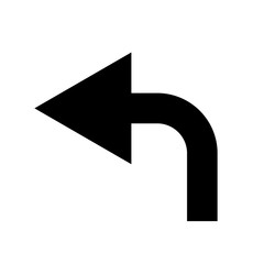 Black curved arrow to left