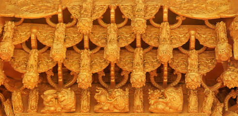 Pattern of beautiful Chinese carvings