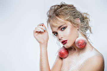 christmas balls earrings
