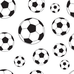 Seamless pattern with football balls