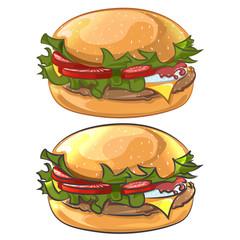 Hamburger vector image