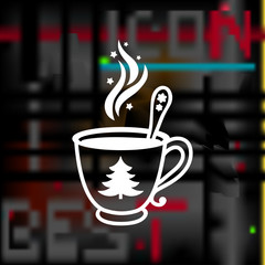 christmas cup of coffee icon
