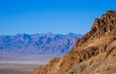 Amazing Death Valley National Park in California on a sunny day