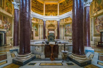 Lateran Baptistery (San Giovanni in Fonte) near the Basilica of Saint John in Rome, italy.