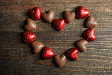 candies in the shape of heart