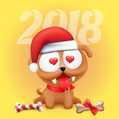 Little dog puppy 2018 vector symbol