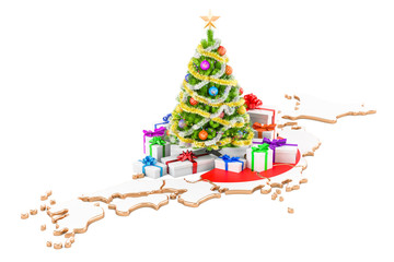 Christmas and New Year holidays in Japan concept. 3D rendering