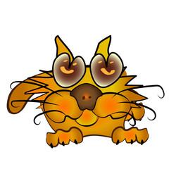 Orange cartoon kitten