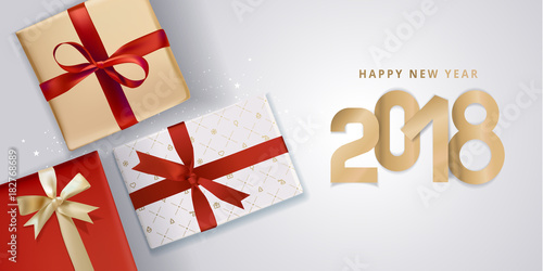 new year greeting card vector illustration concept for greeting