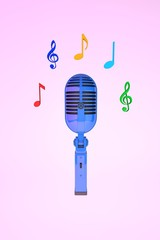 микрофон с нотами
