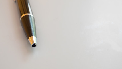 pen close up white background