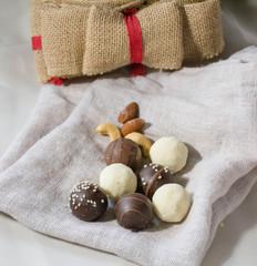 Holidays treats sweet white and dark chocolate