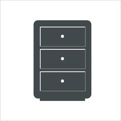Cupboard icon. Vector illustration
