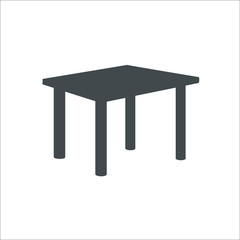Table icon. Vector illustration