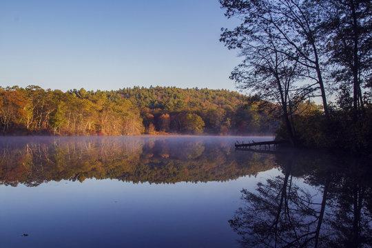 Autumn Reflections, Houghton's Pond, Milton MA