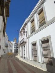 Higuera la Real. Pueblo de Badajoz ( Extremadura, España) cerca de la frontera con la provincia de Huelva