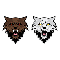 Wolves Head Vector