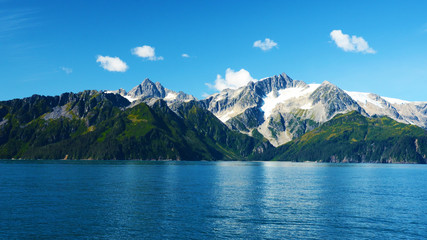 view from a cruise boat in Alaska