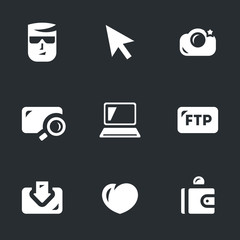 Vector Set of Digital Photo Icons.