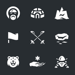 Vector Set of Polar Station Icons.