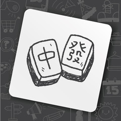 Chinese New Year Mahjong Doodle
