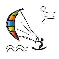 Kiteboarding, sketch for your design