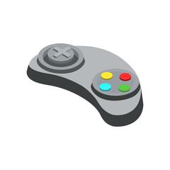 Gamepad device isometric 3D icon