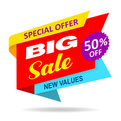 Sale offer discount isolated fifty