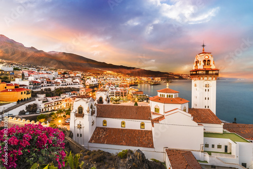 Wall mural View of Candelaria town in Tenerife, Canary Islands, Spain