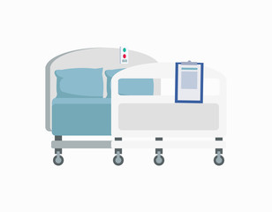 Hospital Wheeled Bed Icon Vector Illustration