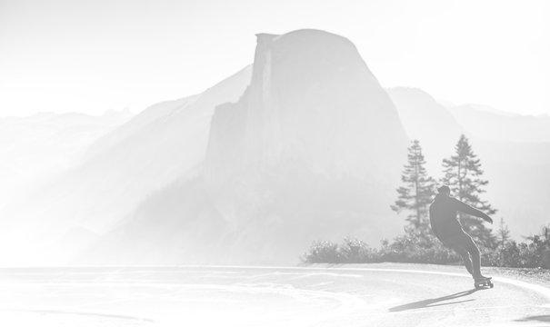Yosemite half dome skateborad national park