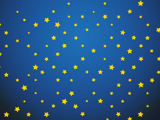 yellow star on blue background