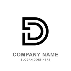 Letter D Logo Simple Black Logo