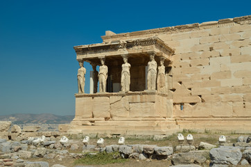 Wall Mural - parthenon in Athens greece ancient monuments caryatids