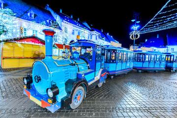 Fotomurales - Sibiu, Romania, Christmas Market