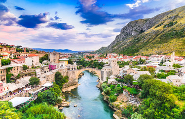 Fototapete - Mostar, Stari Most bridge in Bosnia and Herzegovina