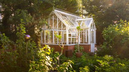 Gewächshaus im englischen Garten Stil