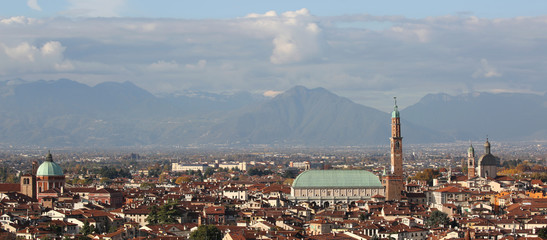 VICENZA city in Italy and the monument called BASILICA PALLADIAN