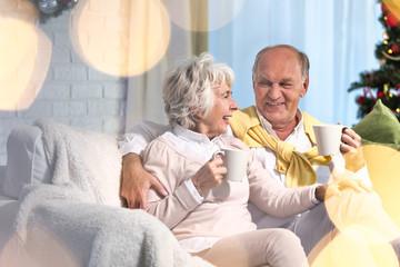Senior couple and christmas time