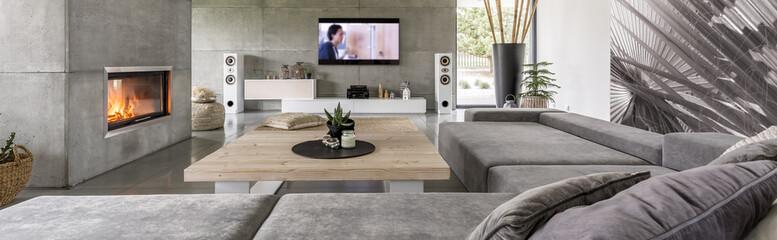 Spacious modern lounge