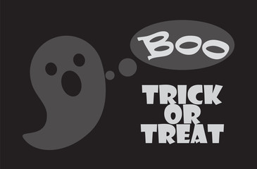 Trick or Treat Poster Happy Halloween Scary Ghost