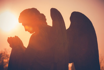 guardian angel - vintage style photo