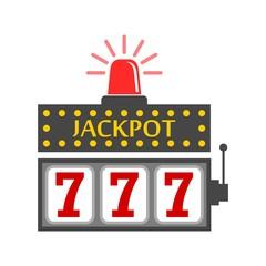 Slot Machine Jackpot, vector Illustration, casino concept